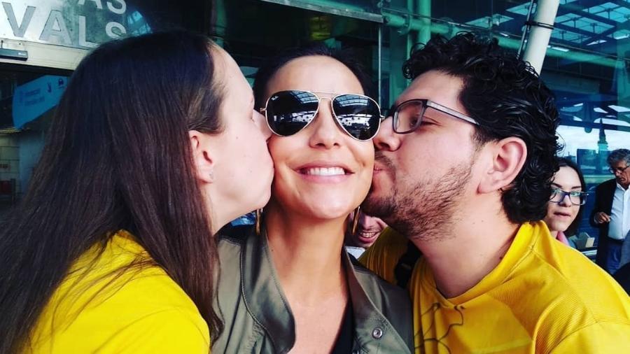 Ivete ganha beijo de fãs ao desembarcar em Lisboa para se apresentar no Rock in Rio - Reprodução/Instagram