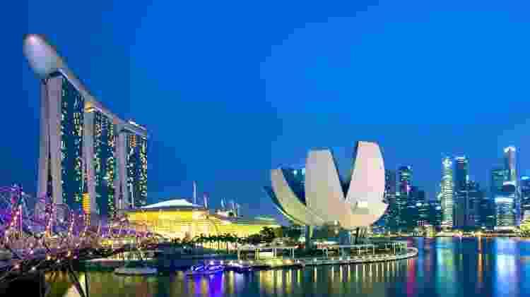 Cingapura, na Ásia, é ponto de partida e destino do voo direto mais longo do mundo - Getty Images
