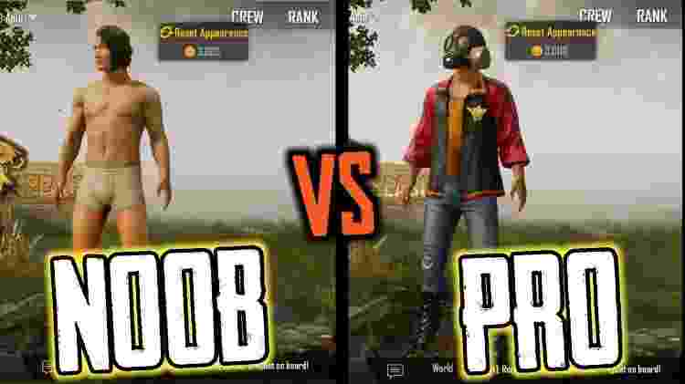 Noob vs Pro - Reprodução - Reprodução