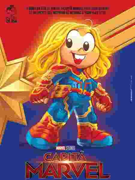 Mônica se transforma na Capitã Marvel em crossover da Turma da Mônica com a Marvel - Divulgação