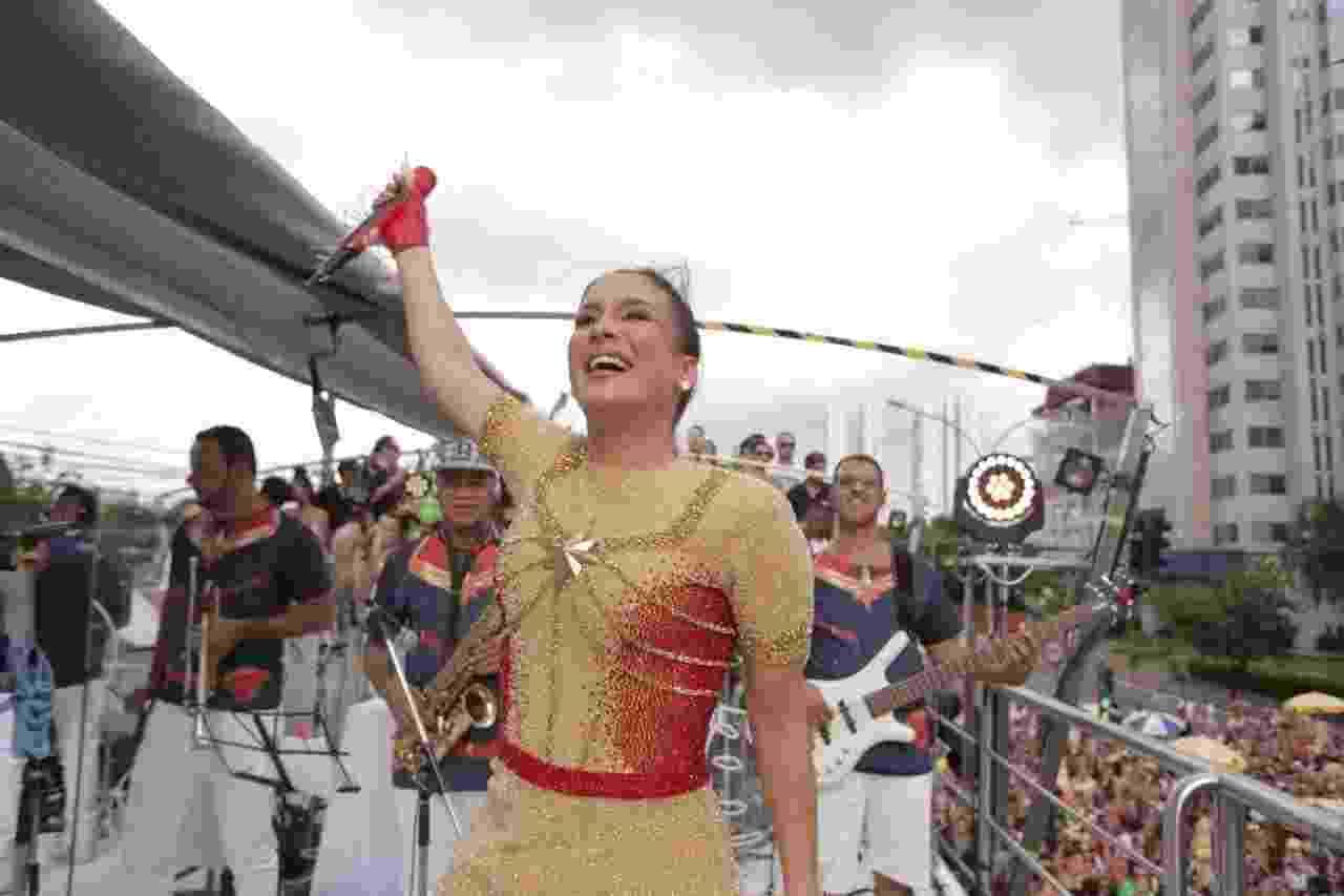 Claudia Leitte comanda Bloco Largadinho em São Paulo - André Lucas/UOL