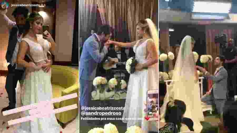 Sandro Pedroso e Jéssica Costa se casam - Reprodução/Instagram