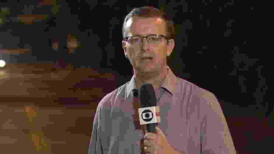 O repórter da Globo Carlos de Lannoy - Reprodução/Globo