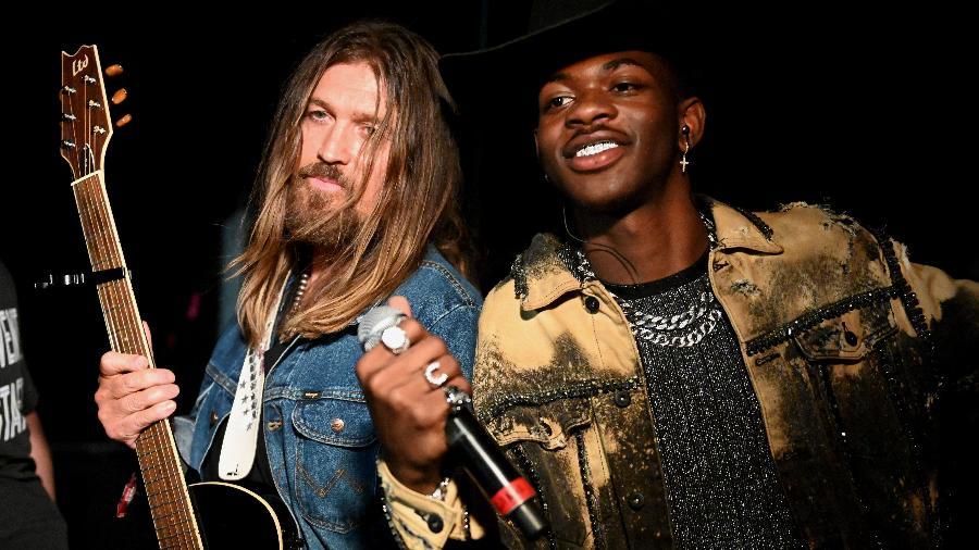 Billy Ray Cyrus e Lin Nas X durante festival na Califórnia - Scott Dudelson/Getty Images