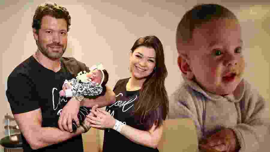 Amanda Françozo e o marido Gregor Ferreira deixam a maternidade em São Paulo com a filha Vitória - Manuela Scarpa/Brazil News