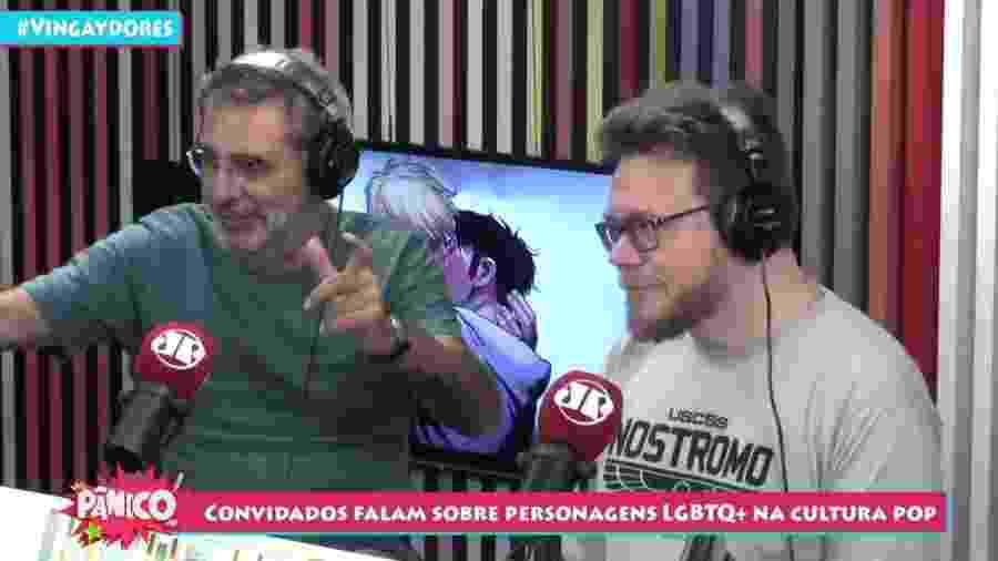 Gilberto Dimenstein e Roberto Sadovski participam do programa Pânico, da rádio Jovem Pan - Reprodução/YouTube/Pânico Jovem Pan