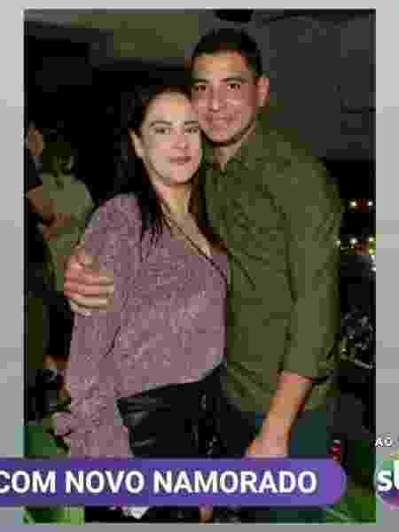 Silvia Abravanel com o novo namorado, Vinícius - Reprodução/SBT