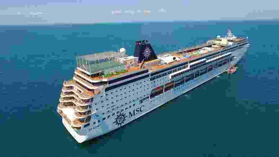 Organização do Mundial fez acordo com a MSC Cruises para fretar dois navios que servirão de hotéis flutuantes - Divulgação/MSC