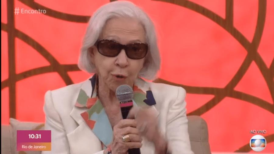 Fernanda Montenegro no Encontro - Reprodução/Globo