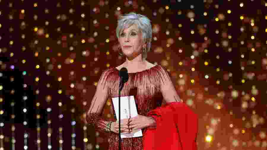 Jane Fonda durante o Oscar 2020 - Getty Images