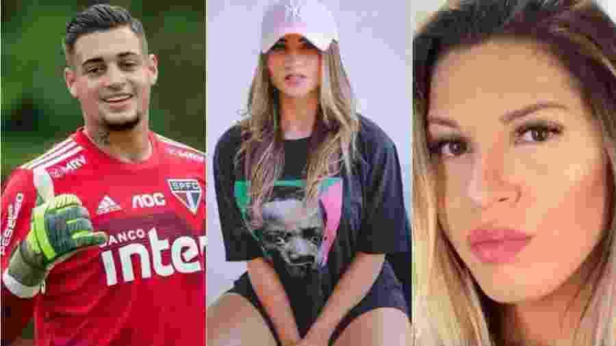 Namorada do goleiro Jean processa ex-mulher do atleta e pede R$ 500 mil - Montagem de fotos de reprodução/Instagram