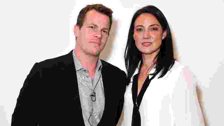 Jonathan Nolan e Lisa Joy durante evento - Jeff Kravitz/Getty Images