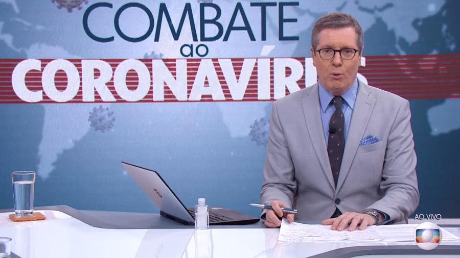 Márcio Gomes na TV Globo - Reprodução/TV Globo