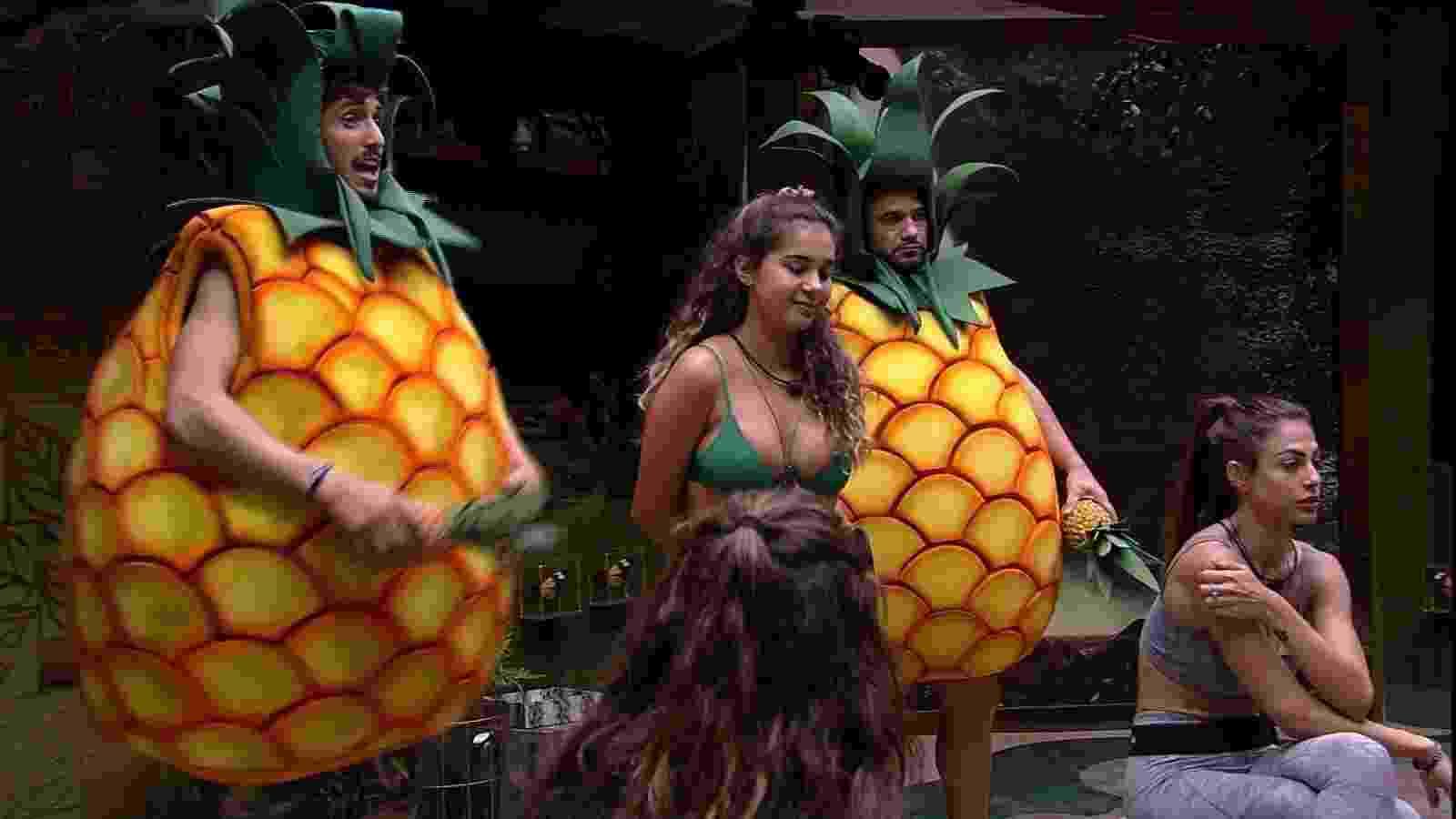 bbb 20: Hadson de abacaxi - Reprodução/Globoplay
