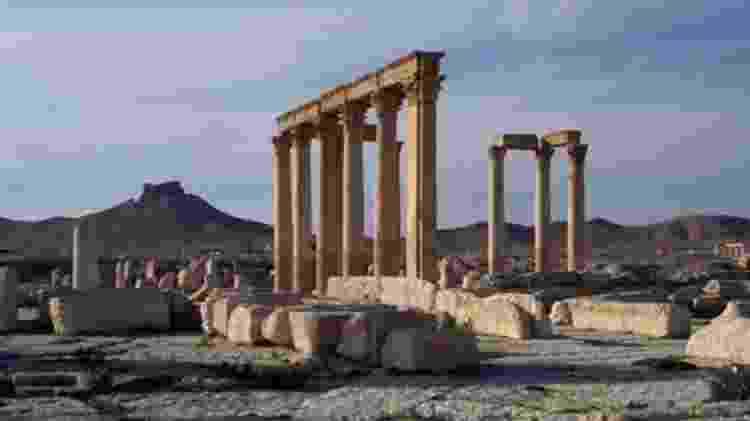 As ruínas de Palmira, na atual província síria de Homs, são um Patrimônio da Humanidade, mas sofreram danos extensos pelo autodenominado Estado Islâmico - GETTY IMAGES - GETTY IMAGES