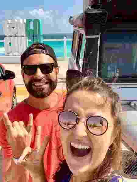 Leonardo Tomasi e Alessandra Kugnharski chegando em Cancún - Arquivo pessoal - Arquivo pessoal