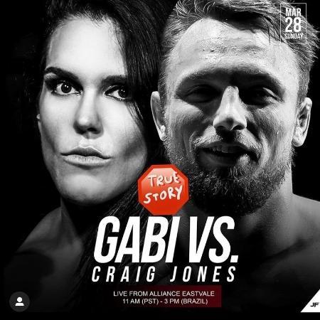 Anúncio da luta entre Gabi Garcia e Craig Jones - Reprodução