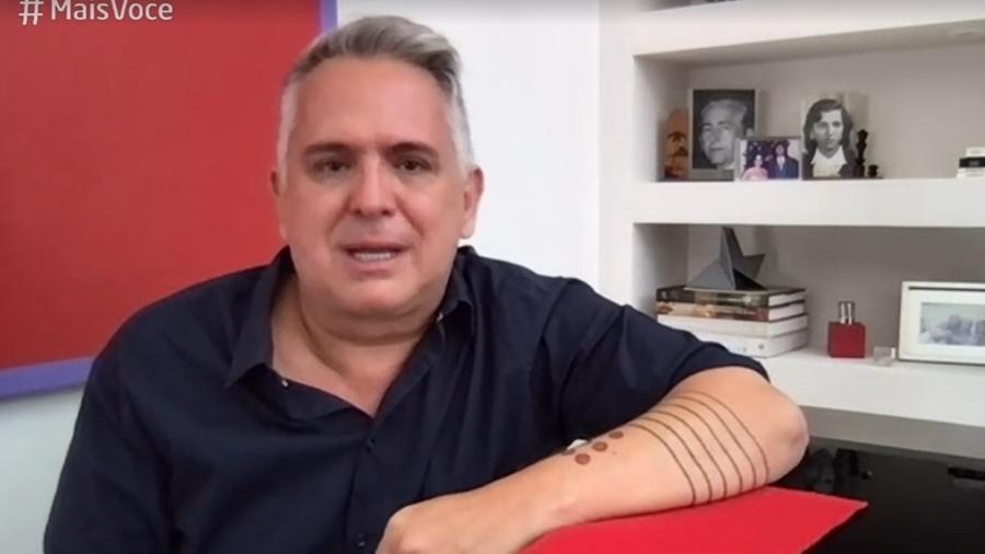 Orlando Morais deu entrevista para Ana Maria Braga emocionado - Reprodução/TV Globo