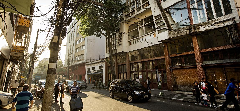 Rua Três Rios, no bairro do Bom Retiro, no Centro de São Paulo - Eduardo Knapp/Folhapress