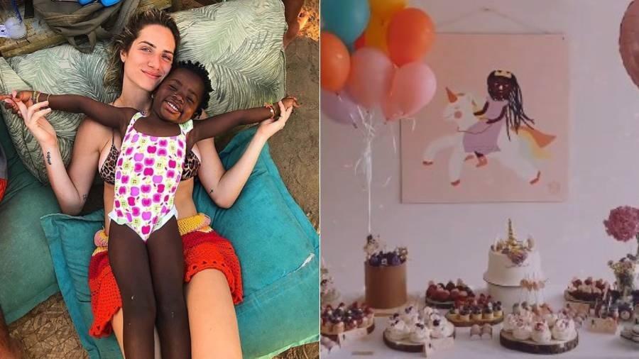 Giovanna Ewbank com a filha, Titi, que completa 8 anos - Reprodução/Instagram