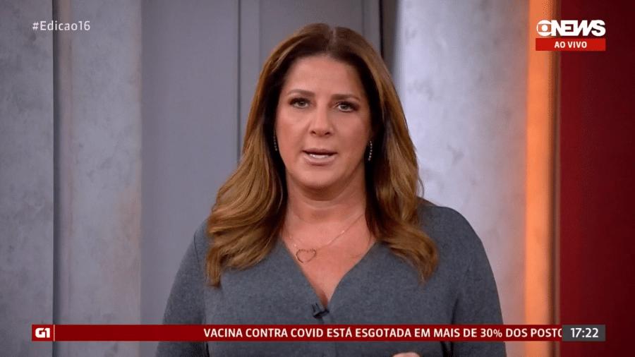 """Christiane Pelajo no """"Jornal da GloboNews"""" - Reprodução/GloboNews"""