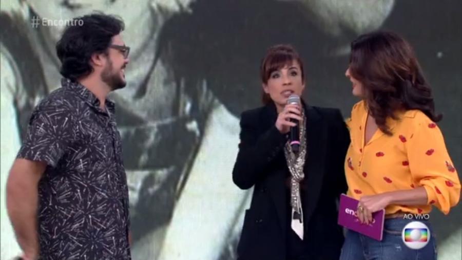 """Maria Ribeiro e Fátima Bernardes no """"Encontro"""" - Reprodução/TV Globo"""