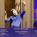 """Tatá Werneck, Celso Potiolli e Maria Gadú trocaram tortadas durante uma divertida participação no talk show """"Lady Night"""", no Multishow, nesta sexta-feira (14) - Reprodução/Multishow"""
