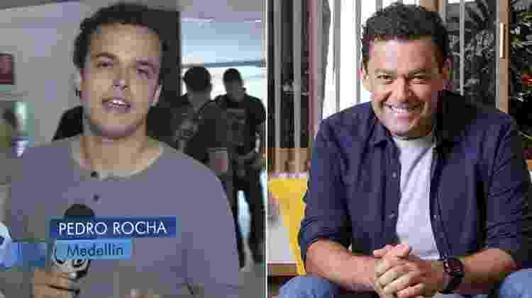 """Montagem com Pedro Rocha e o pai, Fernando Rocha: semelhança já atrapalhou o filho do apresentador do """"Bem Estar"""" - Montagem/UOL - Montagem/UOL"""