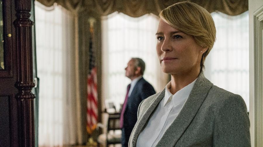 """Claire Underwood (Robin Wright) em cena da quinta temporada de """"House of Cards"""" - Divulgação/Netflix"""