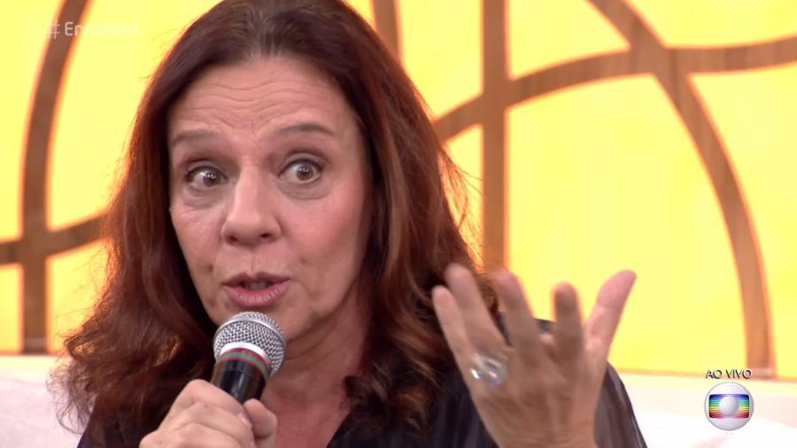 Rosi Campos relata aviso que recebeu do marido de que haveria um terremoto enquanto ela estava em viagem - Reprodução/TV Globo