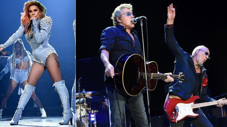Lady Gaga e The Who: Dois shows que prometem no Rock in Rio 2017 - Montagem/UOL