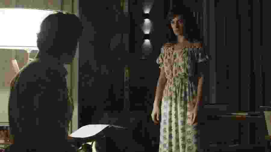 """Gael (Sergio Guizé) e Clara (Bianca Bin) em """"O Outro Lado do Paraíso"""" - Reprodução/GShow"""