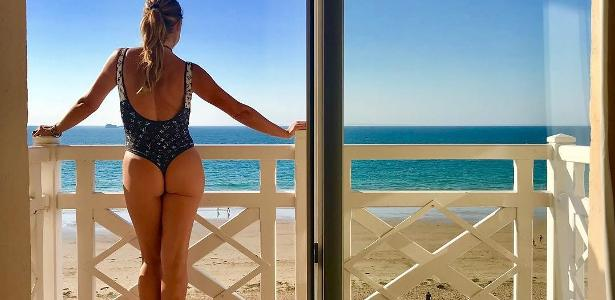 ba592ae4bc From floss swimsuit, Flávia Alessandra gives good morning and surprises  followers – 07/21/2018