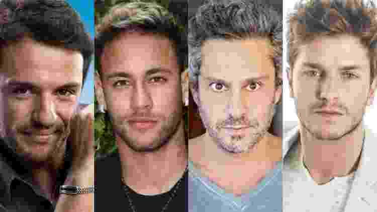 Nos primeiros dias de votação, Thammy aparece à frente de  Lombardi, Neymar, Nero e Klebber Toledo - Reprodução/Montagem UOL - Reprodução/Montagem UOL