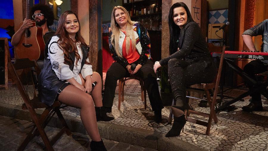 Marília Mendonça e Maiara & Maraísa na gravação do videoclipe - Divulgação