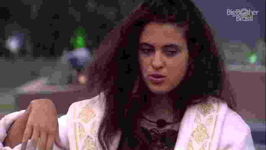 Hana desabafa sobre relacionamento fora da casa - Reprodução/TvGlobo
