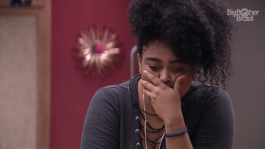 Rízia se emociona ao contar que não viu seu pai no vídeo do anjo - Reprodução/GloboPlay