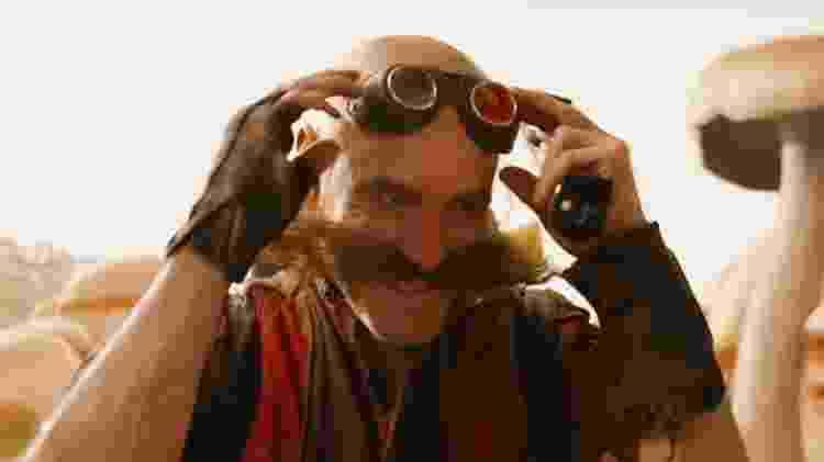 Jim Carrey interpreta o Dr. Eggman no filme de Sonic - Divulgação - Divulgação