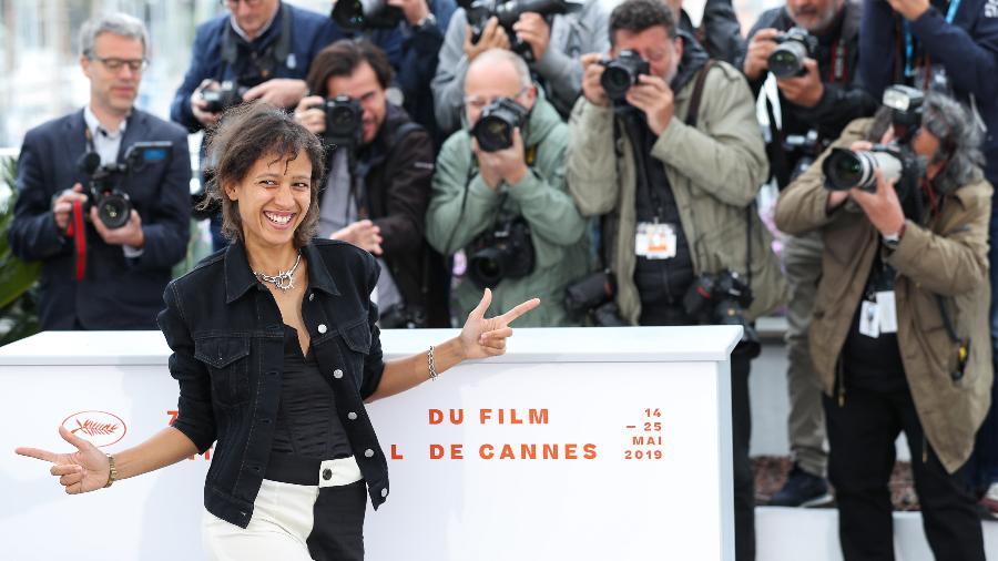 A diretora Mati Diop no Festival de Cannes, em 2019 - Xinhua/Zhang Cheng