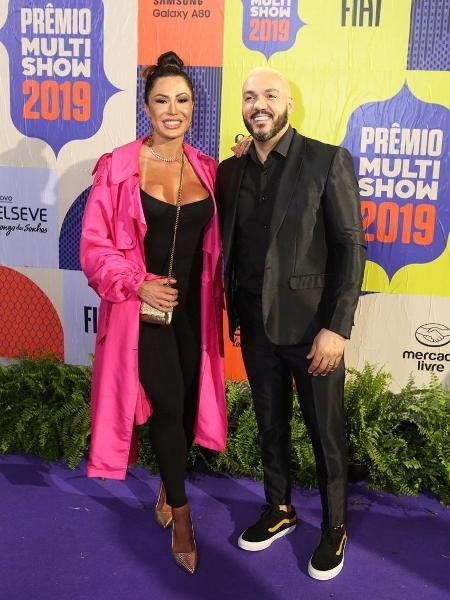 O casal Gracyanne e Belo no Prêmio Multishow 2019 - Divulgação