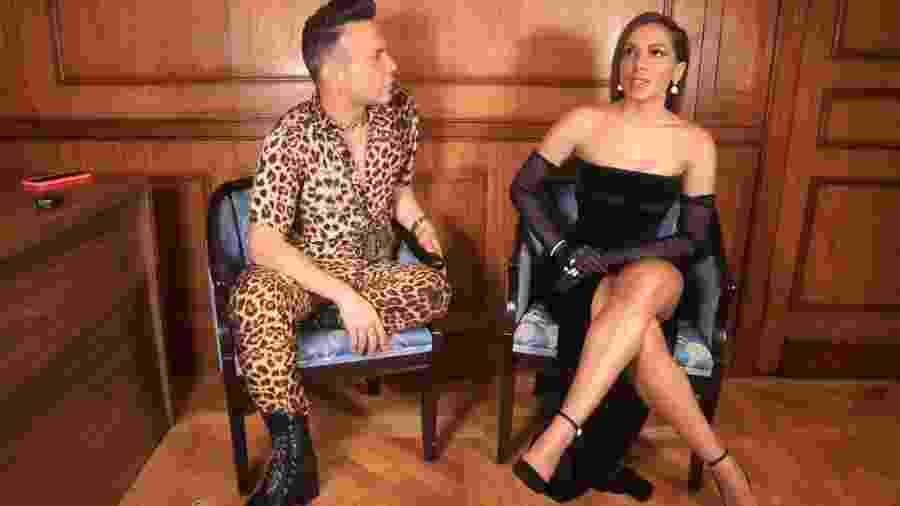 Matheus Mazzafera entrevista Anitta - Reprodução/YouTube