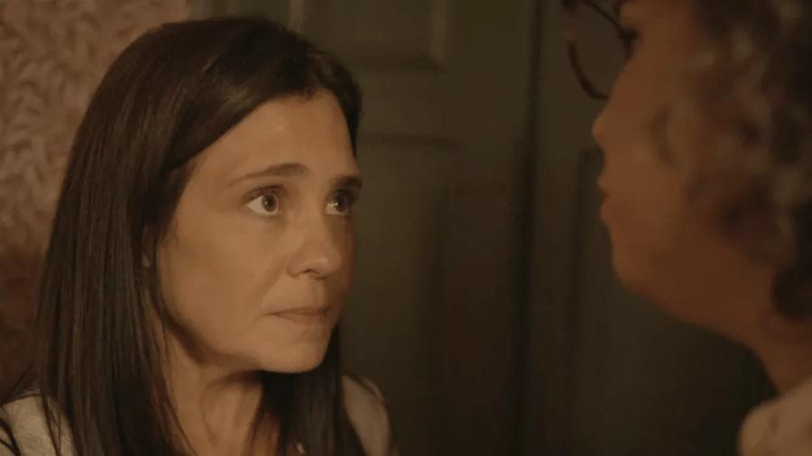 """Thelma é confrontada por Jane em """"Amor de Mãe"""" - Reprodução/Globo"""