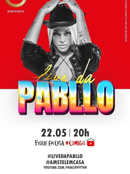 Pabllo Vittar fará live solo na sexta-feira (22) - Divulgação