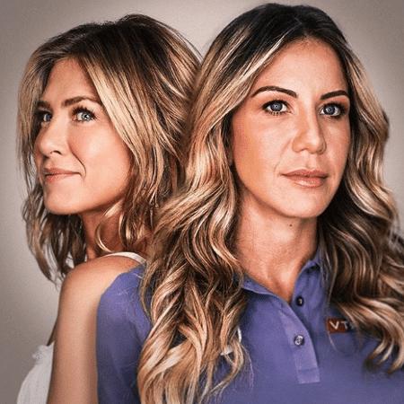 Bárbara Coelho em montagem ao lado de Jennifer Aniston - Reprodução/Instagram