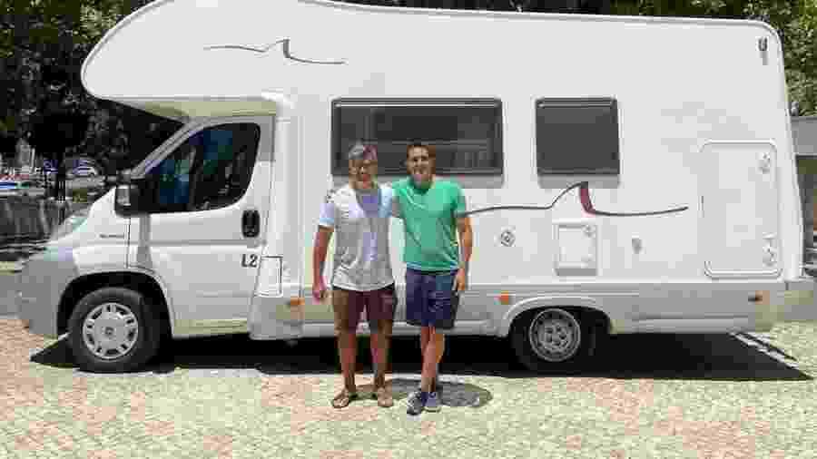 Leonardo Vieira com o marido, Leandro Fonseca - Reprodução/Instagram