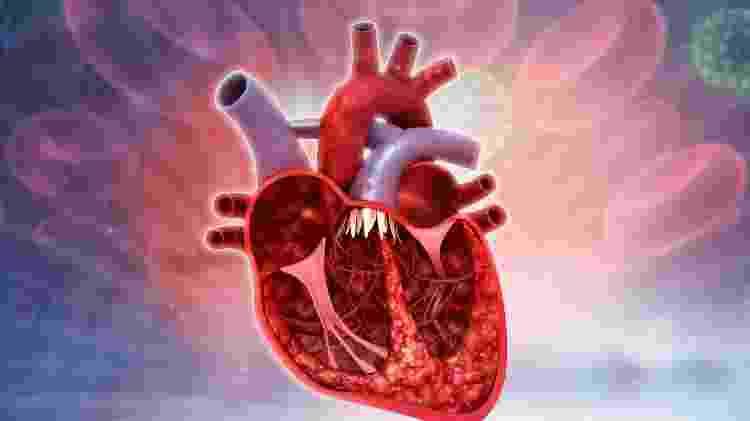 Coração bombeando sangue - iStock - iStock