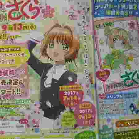 Novo visual da protagonista Sakura Kinomoto também foi mostrado na revista - Reprodução