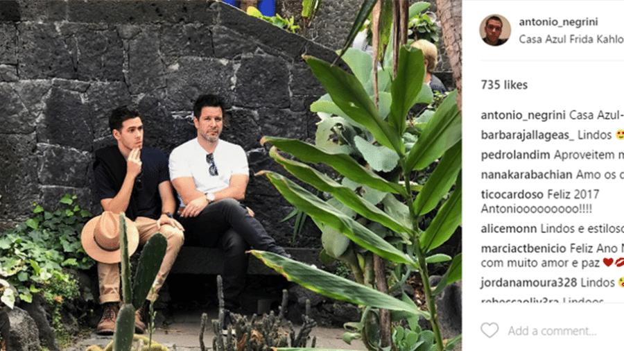 Antonio Negrini, filho de Murilo Benício e Alessandra Negrini - Reprodução/Instagram