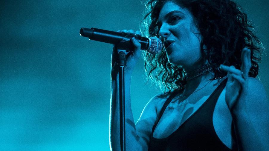A cantora Lorde no palco em um show na Dinamarca em 2017 - Red Bull Content Pool/Divulgação