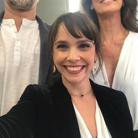Débora Falabella em selfie com Dan Stulbach e Maria Fernanda Cândido - Reprodução/Instagram